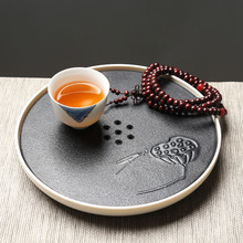 Creative Japanese Kung Fu Tea Set Melamine Resin Lotus Tea Tray Puer Tieguanyin Rectangular Tea Table Tray Saucer Teapot Storage(China)