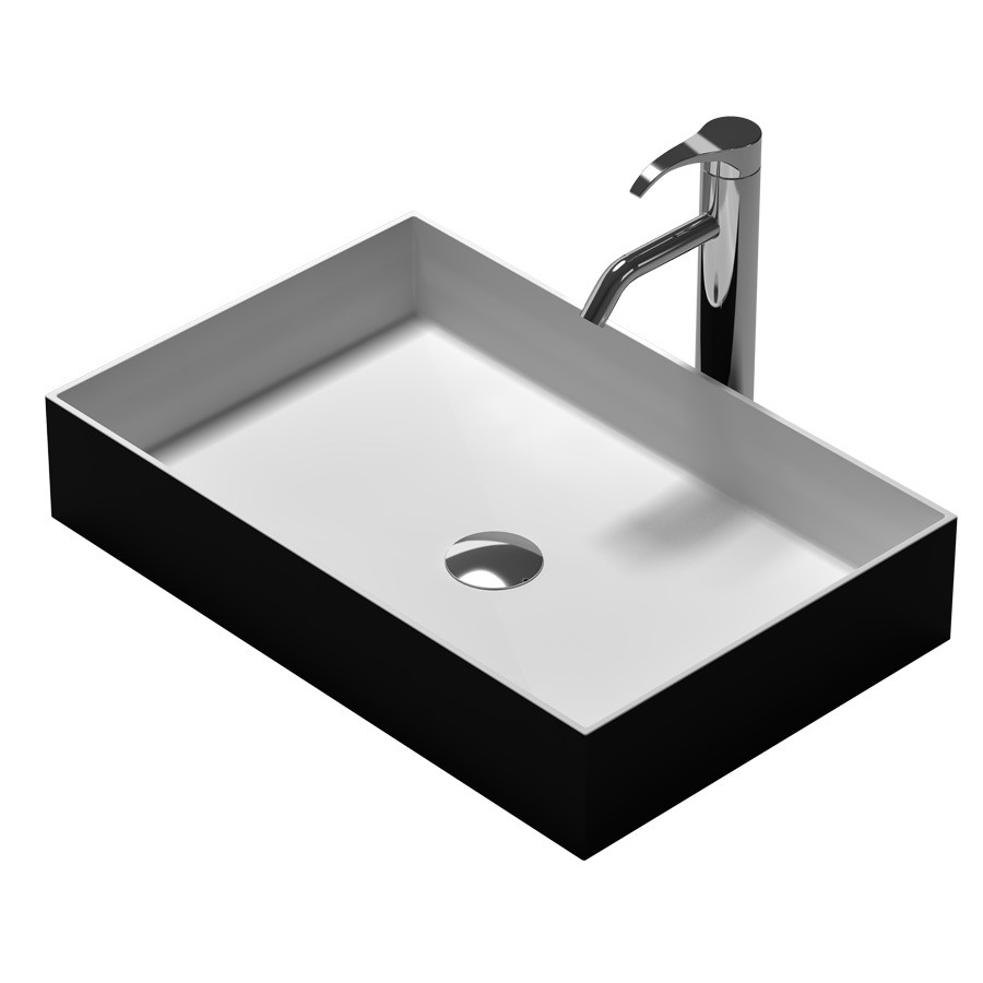 Rectangular bathroom solid surface stone Under counter sink fashionable wash basin XRS38337