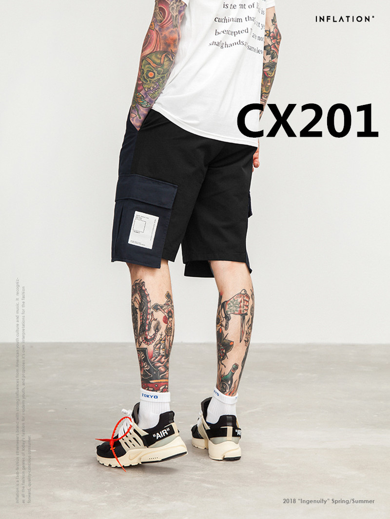 2018 New arrive Fashion men's 100% cotton Casual Shorts CX201