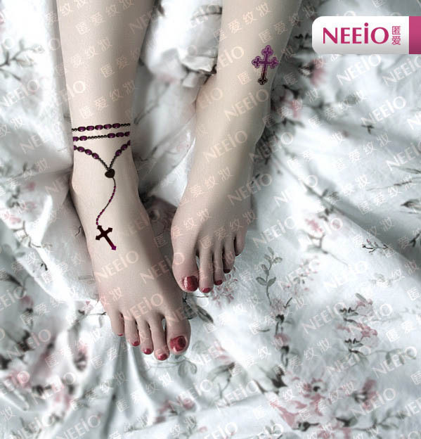 Nat002 Neeio Tattoo Paste Religious Totem Jewelry Deep Purple
