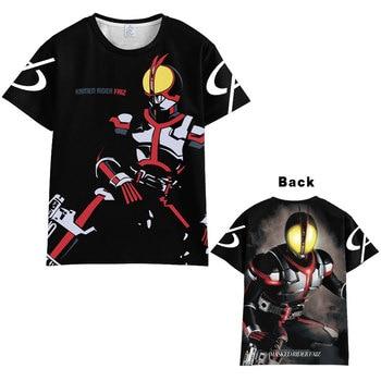Camiseta de manga corta Unisex de Anime enmascarado Faiz 555 para cosplay