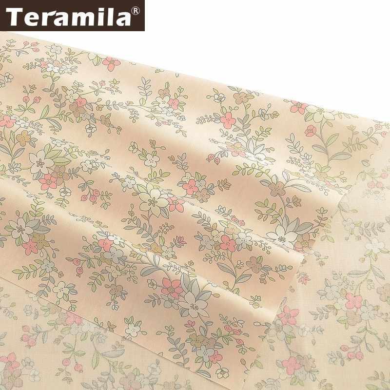 Teramila 100% Baumwolle Blumen Stoff Meter Telas Tissus DIY Quilts Patchwork Bettlaken Vorhänge Baby Kid Kleid Hause Köper Tuch
