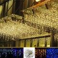 4 M 96 Led sincelo cortina luzes da corda do pátio luzes ao ar livre natal Levou cristmas Decoração da festa de Casamento decoração de ano novo UE/EUA
