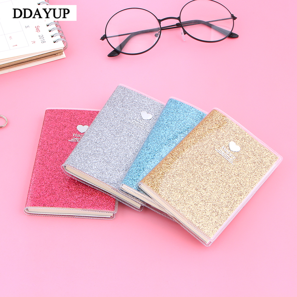 Notebooks Cheap Sale Creative Pvc Notebook Paper Diary School Shiny Cool Kawaii Notebook Paper Agenda Schedule Planner Sketchbook Gift For Kids Removing Obstruction