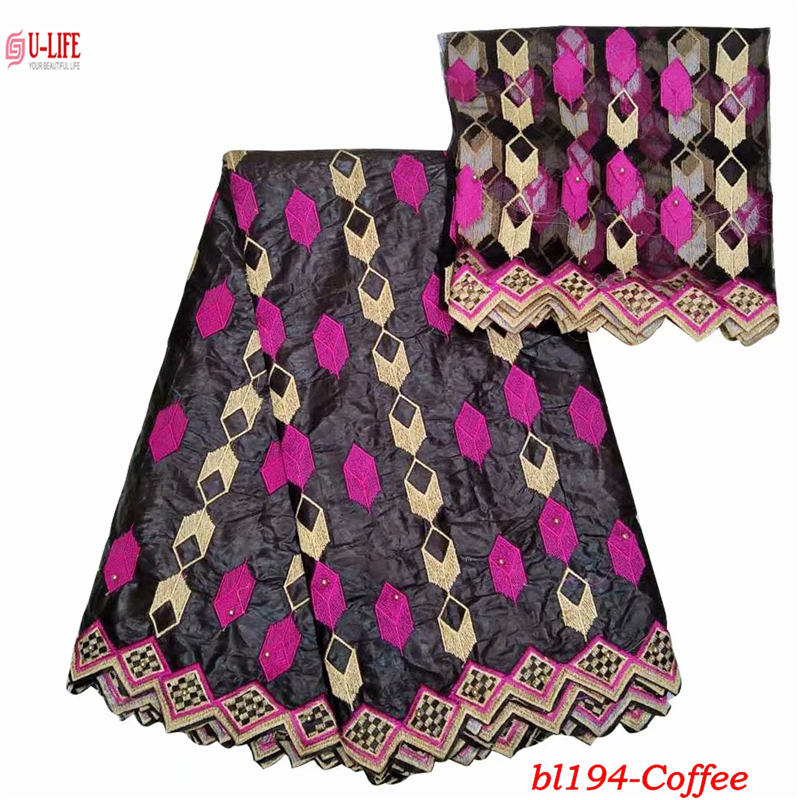 ulifelace high quality African Bazin lace fabric with new design embroidery Tulle Mesh French lace fabric for party dress BL-194ulifelace high quality African Bazin lace fabric with new design embroidery Tulle Mesh French lace fabric for party dress BL-194