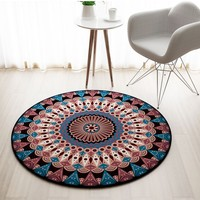 Ethnic Round Carpet Rug Door Mat Modern Persian Carpets for Living Room Area Rug Carpet Bedroom Anti Slip Floor Rug Mat Tapete