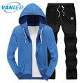 Autumn Solid Polo Sweat Suit 2017 Plus Size 4XL Casual Hood Hoodies+Pants Mens Tracksuit Sets Sportwear Clothing Suits For Men