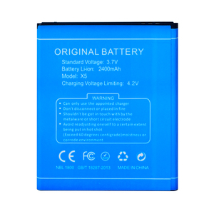 Image 4 - Original Mobile Phone Battery For Doogee X5 Batteries 2400mAh 3.7V Li ion Battery Rechargeable Bateria High Quality