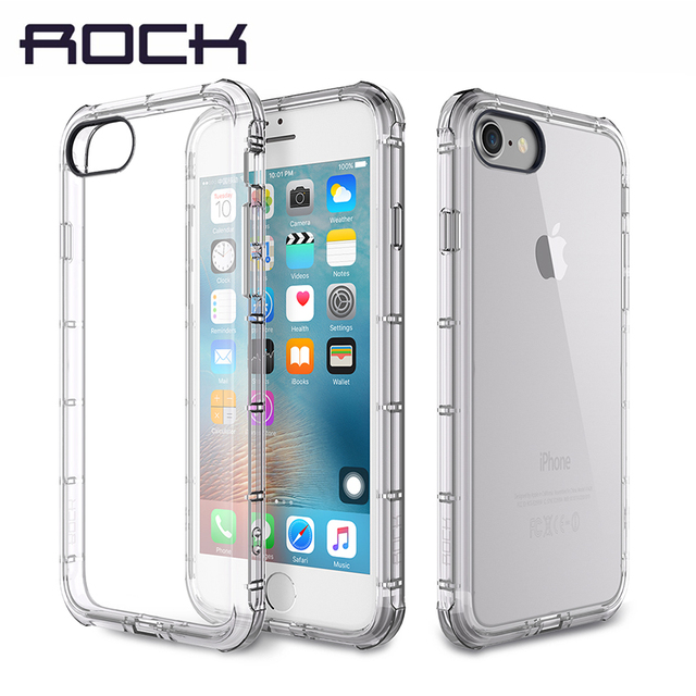 pretty nice 99fe0 20c6d US $7.99 30% OFF|Case for iPhone 7/7 Plus Case Original ROCK Fence Series  Anti knock Drop Protection Brand Phone Case for iPhone7 Cover-in Fitted ...