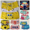 2017 New Sexy High quality 100% cotton cartoon men's Boxer / men underwear The Squirrel