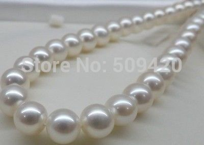 FREE SHIPPING>>@> HOT HUGE AAA 11-12MM PERFECT ROUND SOUTH SEA GENUINE WHITE PEARL NECKLACE 18FREE SHIPPING>>@> HOT HUGE AAA 11-12MM PERFECT ROUND SOUTH SEA GENUINE WHITE PEARL NECKLACE 18