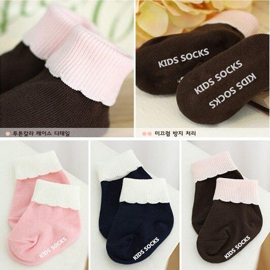 Beliebte Marke Korea Neue Baumwolle Nadel Bannfarbe Pigment Drehte Mund Pilz Spitze Socken Baby Kleinkinder Jungen Und Mädchen Socken Mode