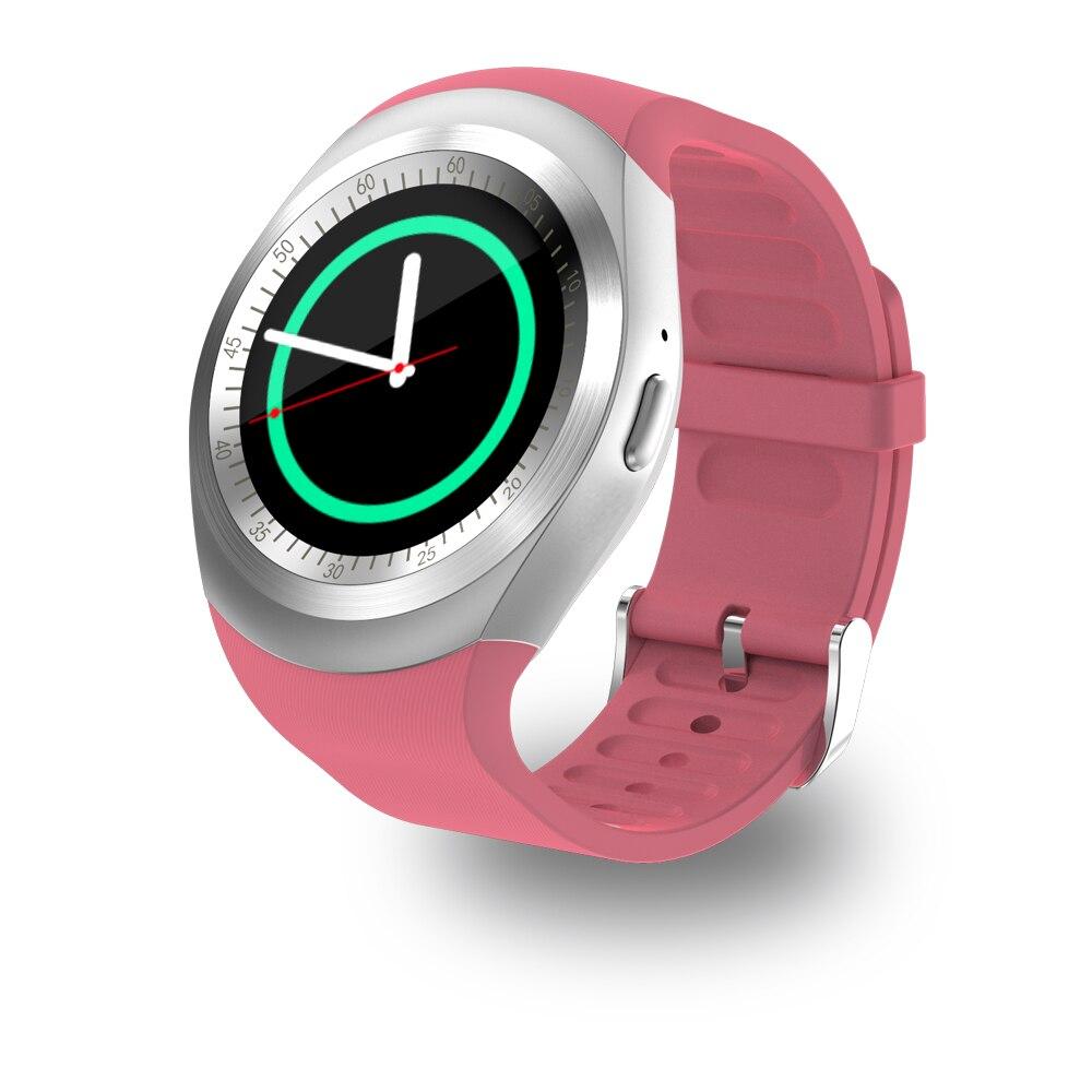 Y1 relógio inteligente redondo apoio nano sim & tf cartão com whatsapp e facebook masculino mulher negócios smartwatch para ios android