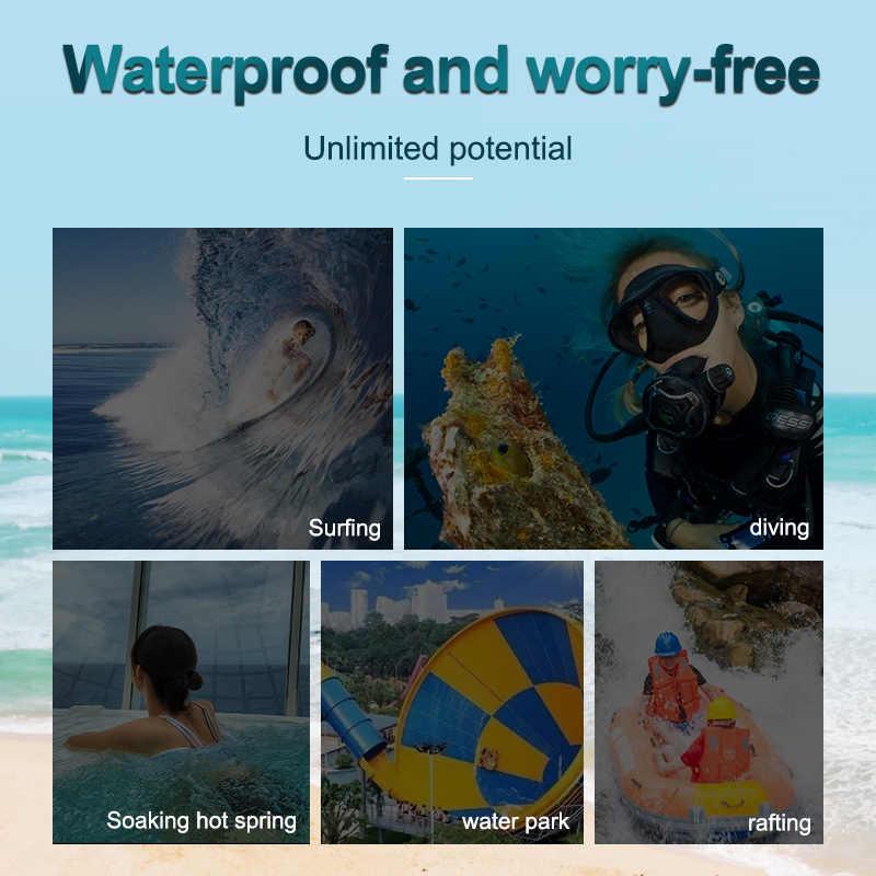 KUULAA Waterproof Phone Case Sealed Clear Bag For Xiaomi iPhone Huawei Samsung Ulefone Mobile Phone Diving Swim Spa Boat Drifter