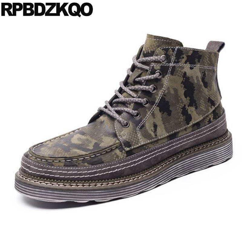 Army Military Booties Autumn Fashion Green High Sole Shoes Men Camouflage Warm Boots Ankle Work Fall Combat Safety Top 2017