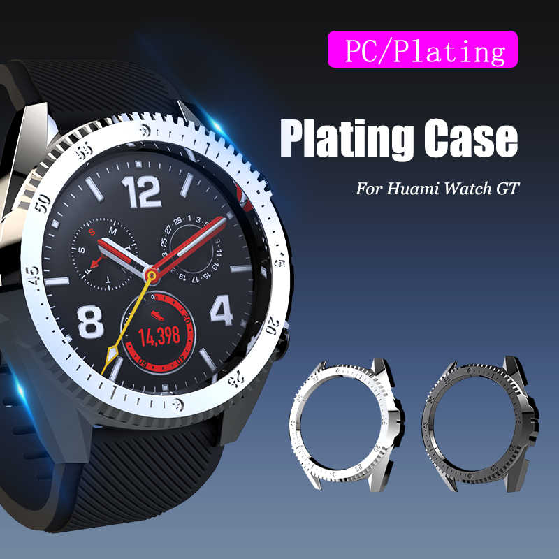 SIKAI PC Plating Protective Watch Case For Huawei GT Watch Protector Cover Plastic Shell For Huawei Watch GT Smart Watch