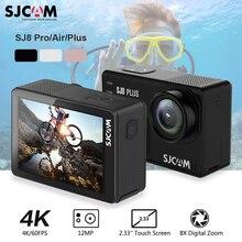 SJCAM SJ8 Plus caméra daction WiFi 4K 1200mAh HD DVR caméscope télécommande aller étanche pro sport Cam
