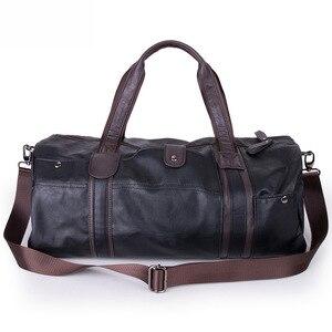 Hot Men Bag Large Capacity Leather Sport