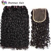 Дважды обращается Фунми волос 3 Связки с закрытием pixie curl странный вьющиеся волосы человека ткать толстые концы Фуми Реми волос