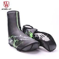Koła UP zima PU wodoodporne pokrowce na buty rowerowe MTB rower szosowy zagęścić ciepłe Windrproof ochraniacze na buty wyposażenie do jazdy na