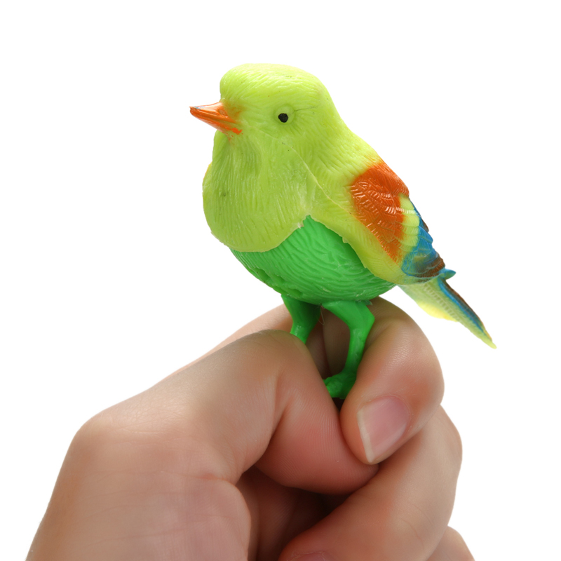 Popular Funny Bird Sound Voice Activate Singing Toy Natural Bird Baby Kids Toy Gift