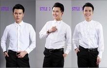 Bräutigam Smoking Shirts Best Man Groomsmen Weiß oder Schwarz Männer Hochzeit Shirts A10000