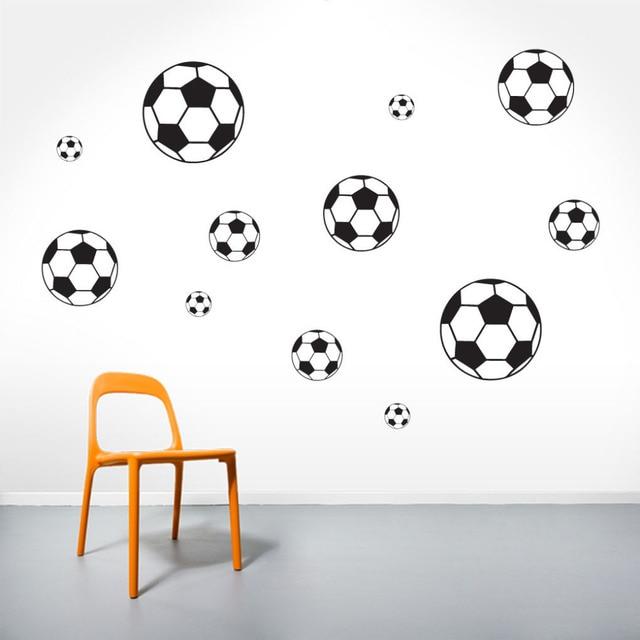 bc87329cf6 Set-Criança Esportes Bolas de futebol Adesivos de Parede Quarto Adesivos de  Vinil Decoração Da