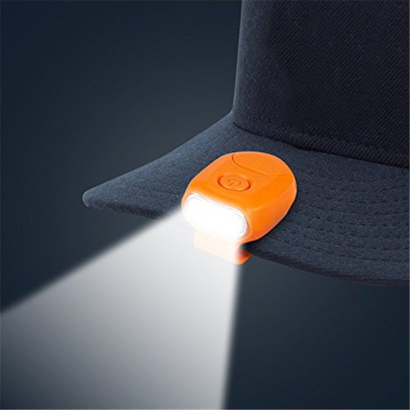 New 90 Degree Rotatable Clip-on Hat Light Hands Free Bright Lamp Lantern Camping Cycling Button Cell LED Cap Light Super