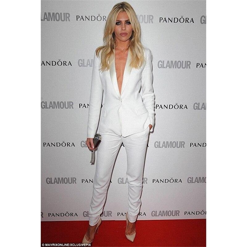 Jacke + Pants Neue Weiß Damen Business Arbeitsanzüge Weibliche Büro Uniform Slim Fit Damen Formale Hosenanzüge 2 Stück Sets Blazer