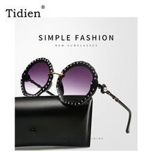 Luxury Oversized Women Sunglasses Ladies Brand Designer Fashion Diving Shades for Driving 2019 Latest UV400 Rhinestone