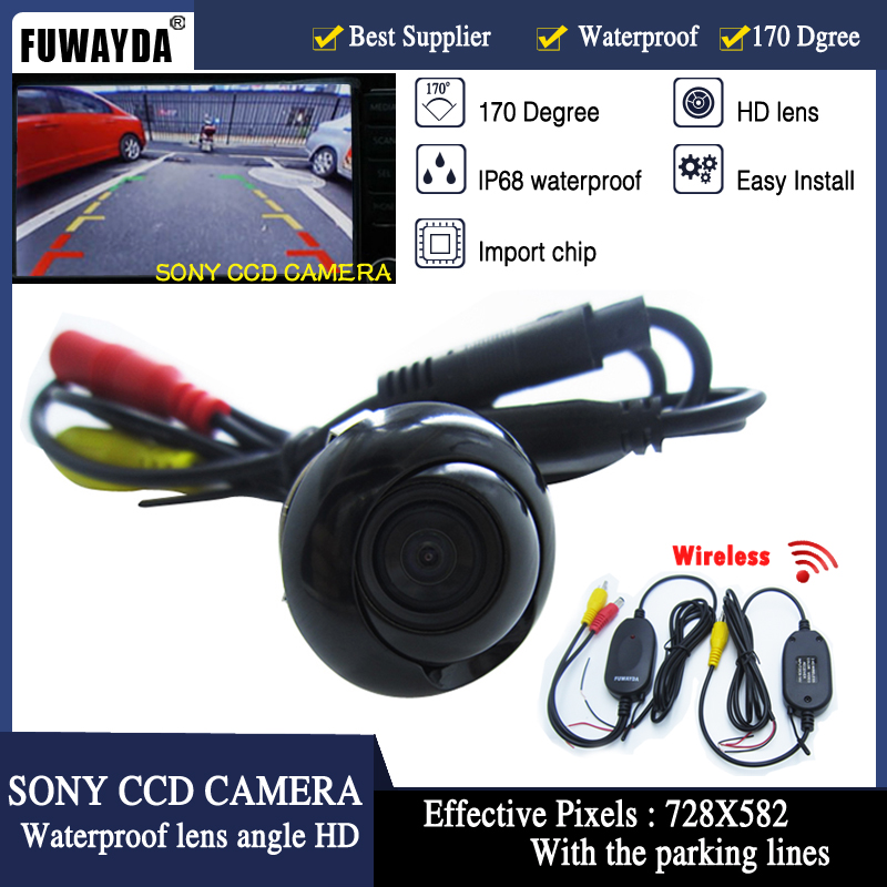 """FUWAYDA Wireless SONY CCD Car SUV MPV Rear View Reverse camera 4.3"""" TFT LCD Color Monitor 360 degree Universal All Fit"""