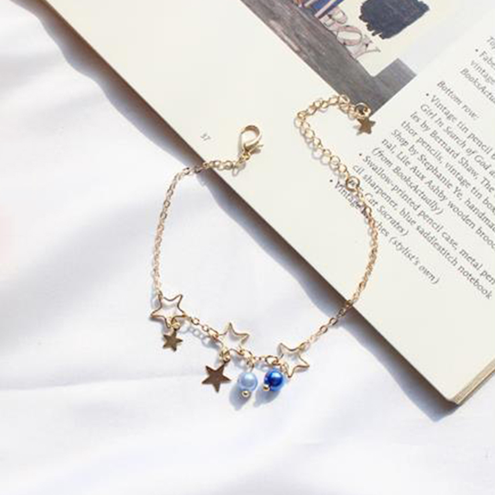 Fashion Star Bracelet Chain Simple Charm Bracelets Moon Adjustable Bangles Hollow Flowers for Women Jewelry