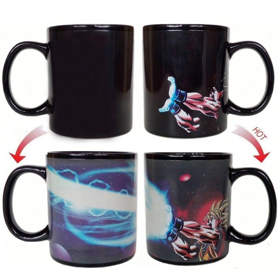 <font><b>Dragon</b></font> <font><b>Ball</b></font> <font><b>Z</b></font> Coffee <font><b>Mug</b></font> <font><b>SON</b></font> <font><b>Goku</b></font> <font><b>Hot</b></font> Changing Color Tea Milk Cup Heat Reactive Ceramic Drinkware Super Saiyan