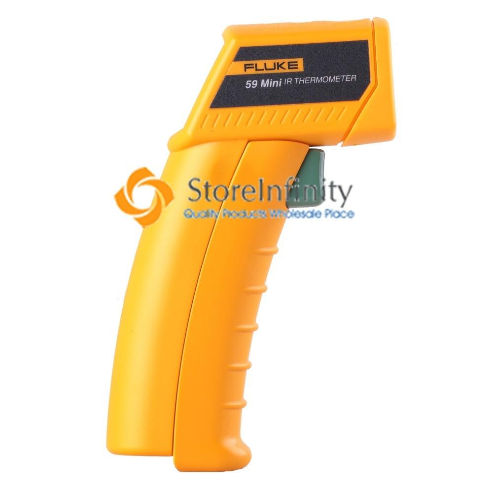 Fluke 59 Mini Handheld Laser Infrared Thermometer Gun Free Shipping free shipping fluke 62 max dual laser infrared thermometer free shipping 62max