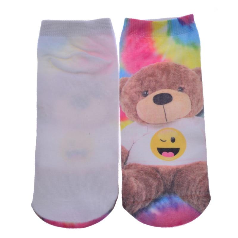 New 3D Printed Cotton Skeleton socks Bone short Women socks Terror novelty socks Animal cat Cute funny Low Cut Ankle Socks men