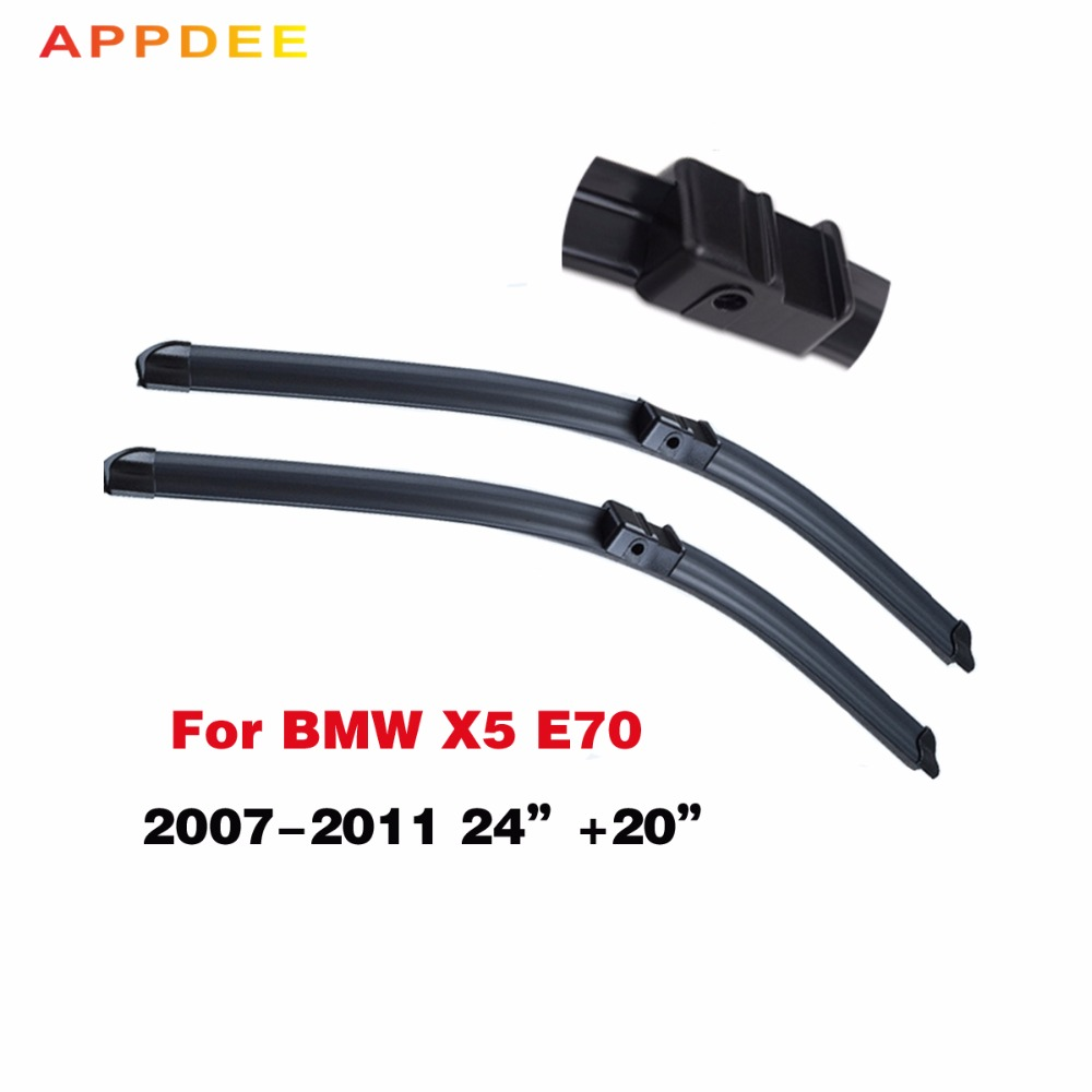 Windscreen wiper blade for bmw x5 e70 2007 2008 2009 2010 2011 silicone rubber front