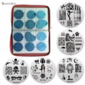 1 Pcs Super Quality 240Slots Nail Stamping Plates Holder Case+10 Pcs 5.5cm Dancer Love Style Round Nail Art Stamp Image Plate