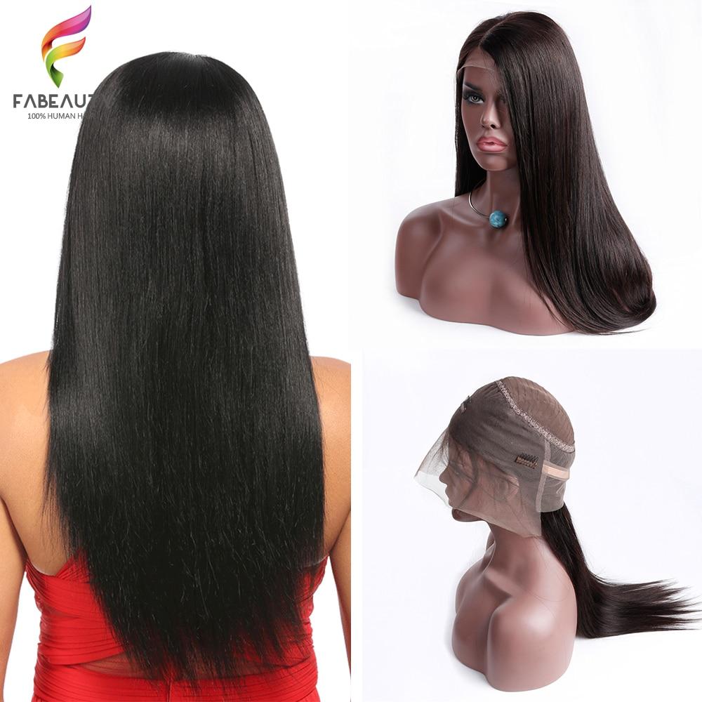 360 Dentelle Frontale Perruque Pré Pincées Avec Bébé Cheveux Droite Brésilienne Pleine Fin Avant de Lacet Perruques de Cheveux Humains Pour Femme remy Perruque