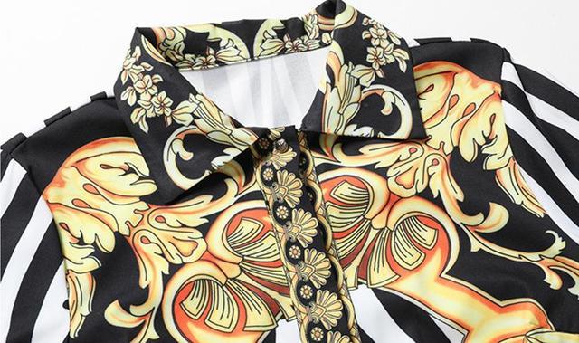 Floral Print England Style Runway Dresses