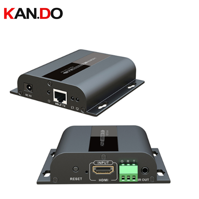 LKV383s 120M HDbitT HDMI Extender Cat5e/6 RS232 Bi-directional Pass Back LKV383S 120m 1080P HDMI Extend Over IP With IR Pass-t