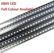 Светодиодный светильник, 100 шт., светодиод SMD, красный, желтый, зеленый, белый, синий, оранжевый, фиолетовый, теплый белый, высокое качество