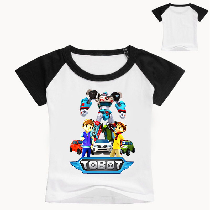 z y 3 9years nununu 2017 robot tobot t shirt kids girl. Black Bedroom Furniture Sets. Home Design Ideas