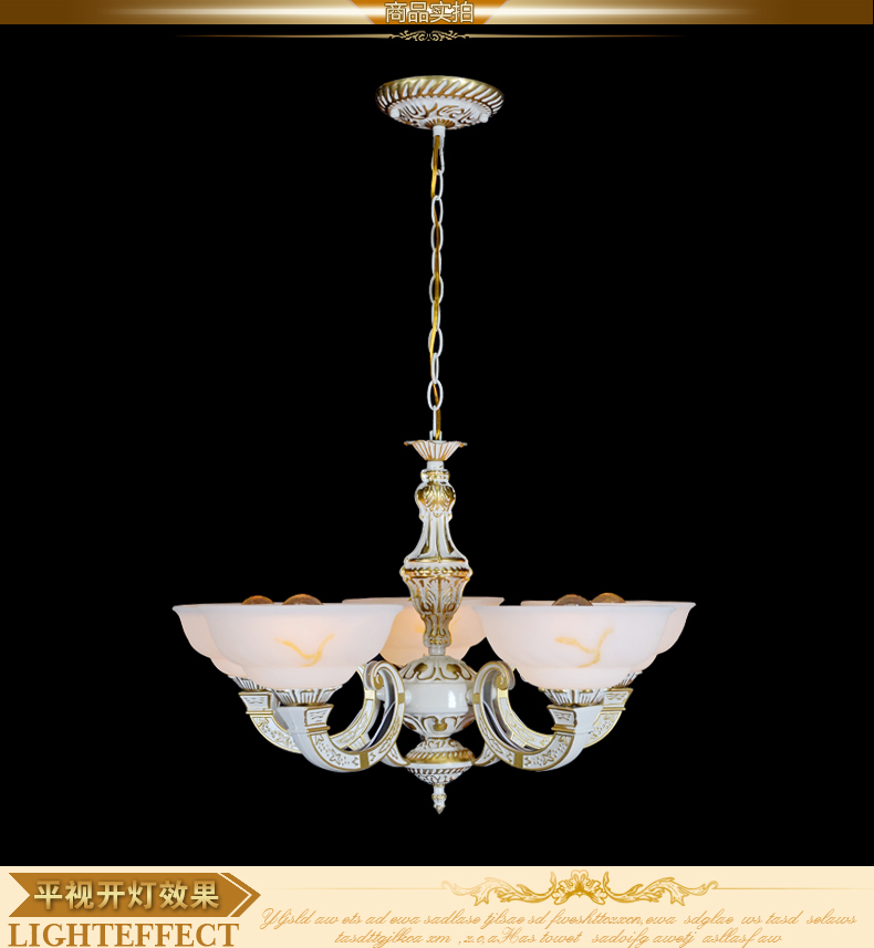 Online Shop Edle Luxurise Europische Gericht Kronleuchter Wohnzimmer Lampen Licht Im Schlafzimmer 5 Armen Bronze Material