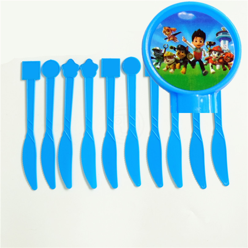 10pcs/lot Disposable Knife Dog Ryder Chase Marshall Kids Birthday party supply event par ...