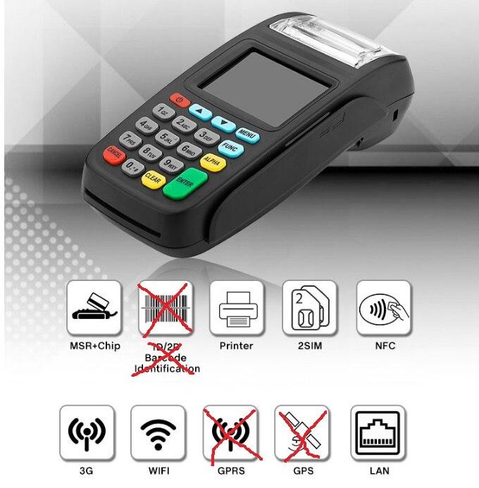 3G Version POS Terminal, Terminal de Paiement Sans Fil avec Lecteur NFC et LAN et WIFI NEW8210