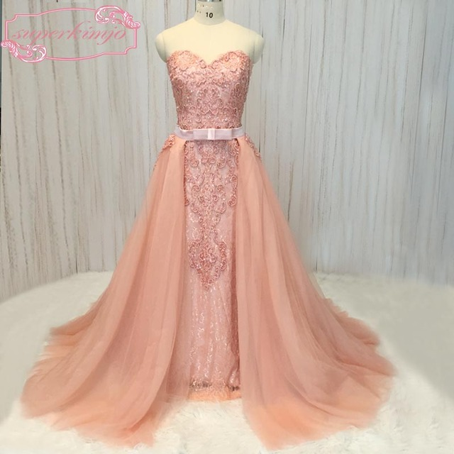 SuperKimJo prom dresses 2018 sweetheart neckline lace appliques ...
