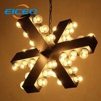 (Eiceo) Nordic Американский промышленный дизайнер ретро модные креативные гладить ресторан бар огни люстра LED независимые лампа