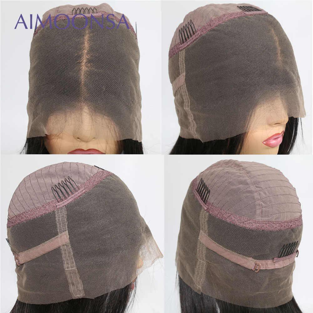 1 b/99J onda del cuerpo peluca frontal de encaje Ombre Borgoña Peluca de encaje Cola de Caballo cabello humano 360 Peluca de pelo peruano para mujeres Remy Aimoonsa
