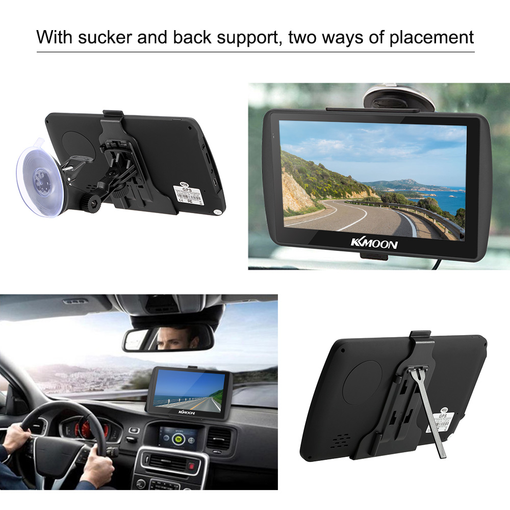 US $41 36 36% OFF KKmoon 7inch HD Touch Screen Car Portable GPS Navigator  128MB 4GB MP3 Video Player Car Entertainment System Free Map FM Ebook-in