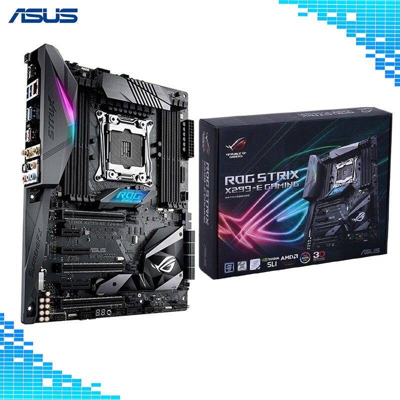 ASUS ROG STRIX X299-E GAMING LGA2066 DDR4 M.2 USB 3.1 802.11AC WIFI X299 ATX Motherboard Support Core X-Series Processors Board rog strix x299 xe gaming x299 atx motherboard 802 11ac wi fi ddr4 dual m 2 sata 6gbps usb3 1 desktop mainboard